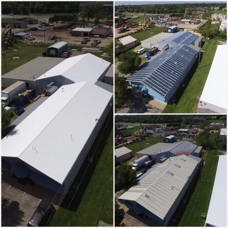 Commercial roof replacement - Hawkeye Flat Roof Solutions